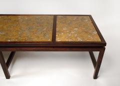 Edward Wormley Edward Wormley for Dunbar Solid Rosewood and Fossilized Marble Cocktail Table - 1126526