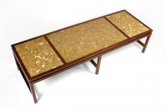 Edward Wormley Edward Wormley for Dunbar Solid Rosewood and Fossilized Marble Cocktail Table - 1126527