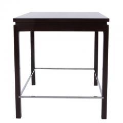 Edward Wormley Edward Wormley for Dunbar Walnut Side Table with Chrome Stretchers Circa 1960s - 544118