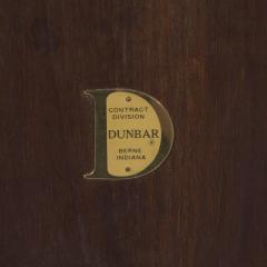 Edward Wormley Edward Wormley for Dunbar Walnut Side Table with Chrome Stretchers Circa 1960s - 544123