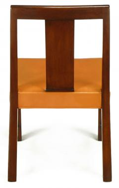 Edward Wormley Eight Edward Wormley Mahogany Leather and Brass Dining Chairs - 237483