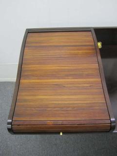 Edward Wormley Excellent Rosewood Roll Top Desk by Edward Wormley for Dunbar Mid Century Modern - 1252469