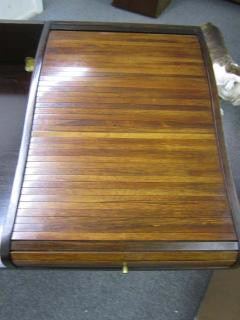 Edward Wormley Excellent Rosewood Roll Top Desk by Edward Wormley for Dunbar Mid Century Modern - 1252470