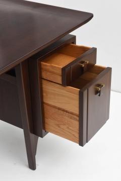 Edward Wormley Fine and Unusual American Modern Dark Walnut Desk Edward Wormley - 60972
