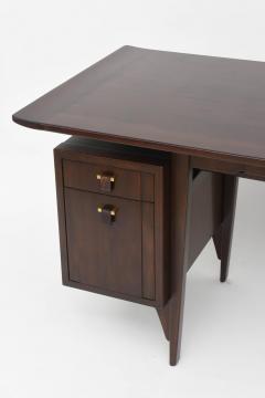Edward Wormley Fine and Unusual American Modern Dark Walnut Desk Edward Wormley - 60973