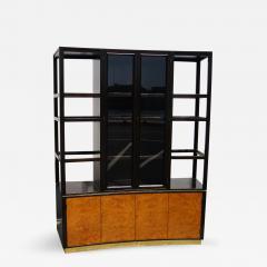 Edward Wormley High Walnut Olive Burl Cabinet by Edward Wormley for Dunbar - 245194