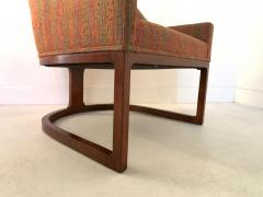 Edward Wormley Pair Mid Century Modern Spoon Back Lounge Chairs - 1170580