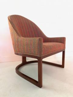 Edward Wormley Pair Mid Century Modern Spoon Back Lounge Chairs - 1170581