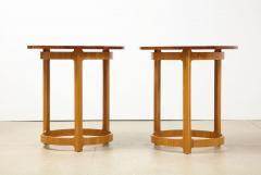 Edward Wormley Pair of Circular Side Tables by Edward Wormley for Dunbar - 2099224