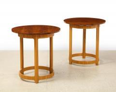Edward Wormley Pair of Circular Side Tables by Edward Wormley for Dunbar - 2099226