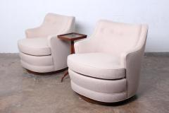 Edward Wormley Pair of Dunbar Swivel Chairs by Edward Wormley - 925408