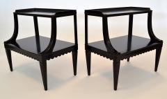 Edward Wormley Pair of Ebony Side End Occasional Tables by Dunbar Wormley Midcentury 2275 - 672886
