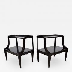 Edward Wormley Pair of Ebony Side End Occasional Tables by Dunbar Wormley Midcentury 2275 - 673997