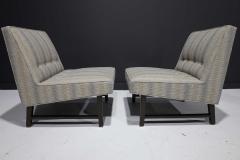 Edward Wormley Pair of Edward Wormley for Dunbar Slipper Chairs - 2055708