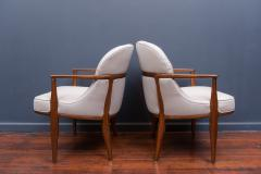Edward Wormley Pair of Janus Lounge Chairs by Edward Wormley for Dunbar - 365539