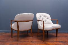 Edward Wormley Pair of Janus Lounge Chairs by Edward Wormley for Dunbar - 365541
