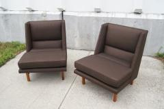 Edward Wormley Pair of Low Lounge Chairs by Edward Wormley for Dunbar - 147838