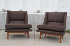 Edward Wormley Pair of Low Lounge Chairs by Edward Wormley for Dunbar - 147839