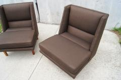 Edward Wormley Pair of Low Lounge Chairs by Edward Wormley for Dunbar - 147842