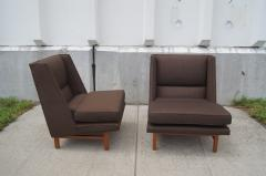 Edward Wormley Pair of Low Lounge Chairs by Edward Wormley for Dunbar - 147843