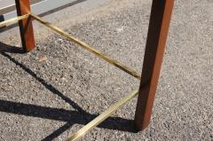 Edward Wormley Pair of Mahogany Walnut and Brass Side Tables by Edward Wormley for Dunbar - 2051311