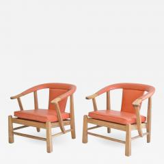 Charmant Edward Wormley Pair Of Mid Century Asian Inspired Club Chairs Lounge Chairs    619096
