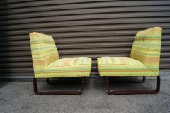 Edward Wormley Pair of Slipper Chairs by Edward Wormley for Dunbar - 699258
