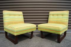 Edward Wormley Pair of Slipper Chairs by Edward Wormley for Dunbar - 699259