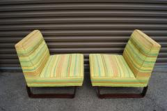 Edward Wormley Pair of Slipper Chairs by Edward Wormley for Dunbar - 699261