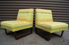 Edward Wormley Pair of Slipper Chairs by Edward Wormley for Dunbar - 699262