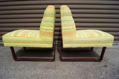 Edward Wormley Pair of Slipper Chairs by Edward Wormley for Dunbar - 699265