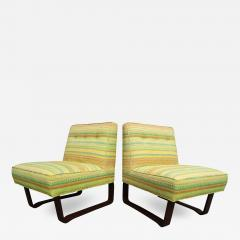 Edward Wormley Pair of Slipper Chairs by Edward Wormley for Dunbar - 703649