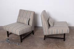Edward Wormley Pair of Slipper Chairs by Edward Wormley for Dunbar - 1018186