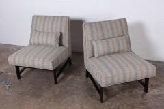 Edward Wormley Pair of Slipper Chairs by Edward Wormley for Dunbar - 1018195