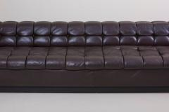 Edward Wormley Party Sofa Model 5407 in Dark Brown Leather by Edward Wormley for Dunbar - 1076892