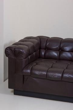 Edward Wormley Party Sofa Model 5407 in Dark Brown Leather by Edward Wormley for Dunbar - 1076893