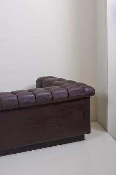 Edward Wormley Party Sofa Model 5407 in Dark Brown Leather by Edward Wormley for Dunbar - 1076897