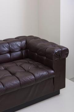 Edward Wormley Party Sofa Model 5407 in Dark Brown Leather by Edward Wormley for Dunbar - 1076898