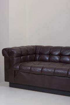 Edward Wormley Party Sofa Model 5407 in Dark Brown Leather by Edward Wormley for Dunbar - 1076899