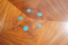 Edward Wormley Pentagonal Janus Coffee Table with Natzler Tiles by Edward Wormley for Dunbar - 2049770