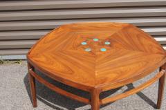 Edward Wormley Pentagonal Janus Coffee Table with Natzler Tiles by Edward Wormley for Dunbar - 2049771