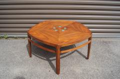 Edward Wormley Pentagonal Janus Coffee Table with Natzler Tiles by Edward Wormley for Dunbar - 2049772