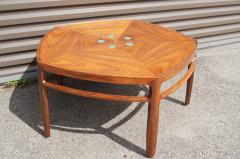 Edward Wormley Pentagonal Janus Coffee Table with Natzler Tiles by Edward Wormley for Dunbar - 2049773