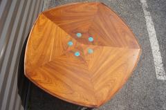 Edward Wormley Pentagonal Janus Coffee Table with Natzler Tiles by Edward Wormley for Dunbar - 2049776