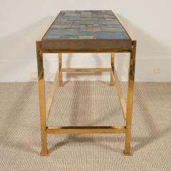 Edward Wormley Petite table with Tiffany glass mosaic top by Ed Wormley for Dunbar - 1391343