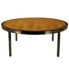 Edward Wormley Rare Edward Wormley Custom Mahogany and Natural Rosewood Oval Dining Table - 279393