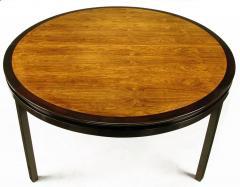 Edward Wormley Rare Edward Wormley Custom Mahogany and Natural Rosewood Oval Dining Table - 279394