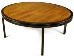 Edward Wormley Rare Edward Wormley Custom Mahogany and Natural Rosewood Oval Dining Table - 279395