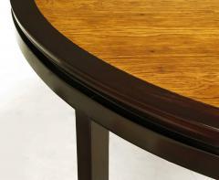 Edward Wormley Rare Edward Wormley Custom Mahogany and Natural Rosewood Oval Dining Table - 279396