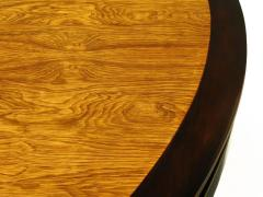 Edward Wormley Rare Edward Wormley Custom Mahogany and Natural Rosewood Oval Dining Table - 279397